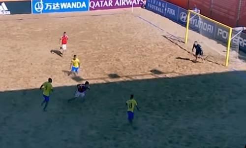 Четвертьфинал ЧМ 2019 по пляжному футболу Россия-Бразилия