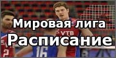 Мировая лига по волейболу 2017. Расписание игр