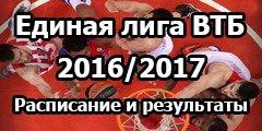 Расписание и результаты матчей Единой Лиги ВТБ