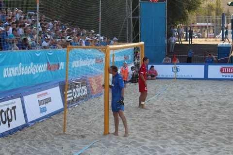Сборная Российской Федерации попляжному футболу обыграла Египет
