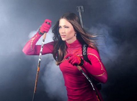Биатлонистка Дарья Домрачева